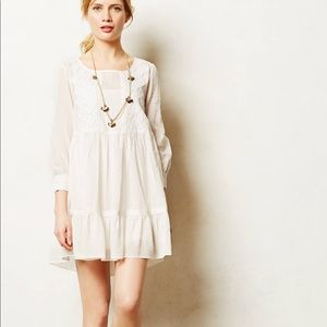 Maeve Embroidered White Tunic